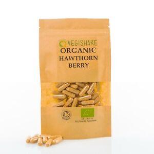 Organic Hawthorn Berry HPMC Capsules Polyphenols Powerful Antioxidants Vegan