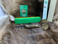 1991 Vintage Puma 943 Jagdmesser Knife With Stag Handles Factory Mint In G/Y Box