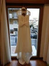Abito vestito da sposa Pronovias Lamas + stola + acconciatura