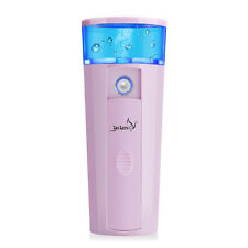 Nano Facial Mist Sprayer USB Rechargeable Portable Steamer with Power Bank Pink