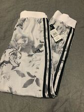 NWT Boys Adidas White Print Track Pants Large 14