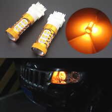 2pcs Amber 27-3528-SMD LED DRL Daytime Running Lights Bulbs 3156 3157 4114 4157