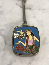 "Vintage Sankyo Enamel Hawaii Music Box Keychain ""Works"""