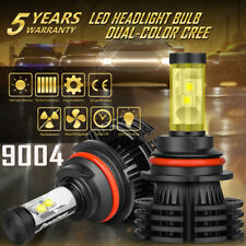 9004 HB1 CREE 1300W 195000LM LED Headlight Hi-Lo Beam Bulbs Upgraded Pure White