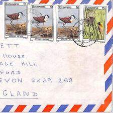 BQ332 1979 Botswana 1978 BIRDS ISSUE FRANKING Airmail Cover {samwells}PTS