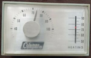 Vintage Coleman manual heating thermostat type 1D30-212