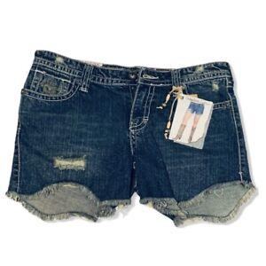 Industrial Cotton Distressed Denim Shorts NWT Juniors Size 7