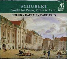 CD album: Schubert: Golub - Kaplan - Carr trio. arabesque 2 cds. C5