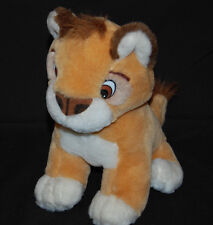 """Lion Cub Brown Golden Tan White King of The Jungle Cute Plush Lovey 10"""" Toy"""