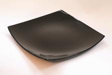 6x Quadrato Luminarc/Delice Black Dinner Plate 26cm x 26cm