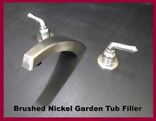 Mobile Home Parts Garden Tub Filler faucet Hi Arc Spout Brushed Nickel Finish