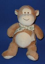 "Toys R Us Natural Baby Monkey Plush Brown & Tan Organic Chinp Stuffed Toy 12"""