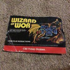 Wizard of Wor, Atari 2600, Manual Only