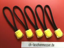5 Victorinox Kordel Schlaufen für schweizer Taschenmesser schwarz gelb