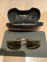 Salvatore Ferragamo Men's Sunglasses 1032 586/73 56□16 130 Pre-Owned Condition