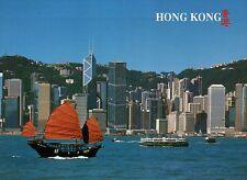Grand View of Hong Kong, Skyline, Business District, HK, China --- Ship Postcard