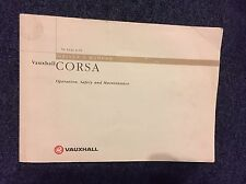 VAUXHALL CORSA Drivers Manual Handbook 1995 In Good Used Condition
