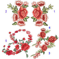 Resplendent Flower Clothing Sew-on Fabric Sticker Applique Embroidery Patch Hot