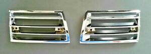 Porsche 911 912 69-73 Front Metal Chrome Horn Grille Pair-New