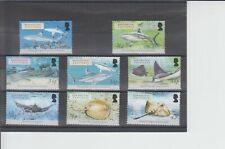 British Indian Ocean Territory 2005 Sharks & Rays 8v MNH