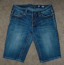 Miss Me Irene Bermuda Jean Shorts Womens 30 Blue Demin