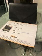 Louis Vuitton Black Leather Epi Clutch Bag Purse Cert Of Authenticity No Reserve