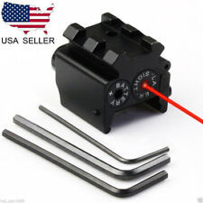 Mini Tactical Compact Red Dot Laser Sight Scope Dual Weaver/Picatinny Rail Mount