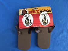 1983 Mr. T Sandals Nip Vintage Flip Flops A-Team Rocky Iii Hong Kong B A Baracus