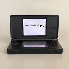 Nintendo DS Lite Cobalt Blue Handheld Console - Tested & Working - Broken Hinge