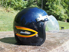 Vintage SKI-DOO Snowmobile Helmet Open Face Flip Shield Size XL