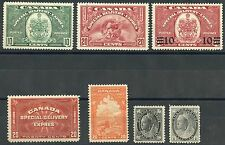 CANADA  LOT OF MINT HINGED  STAMPS AS SHOWN HAVE FUN BIDDING
