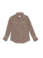 J.Crew The Boy Shirt Womens 4 S Silk Surplus Blouse Button Up Top Maroon Stripe