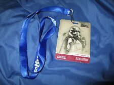 STAR WARS CELEBRATION 2017 Capt/Captain Phasma Exhibitor/Dealer Badge + Lanyard