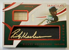 RICKEY HENDERSON 2020 Panini Immaculate Clutch Game Used Bat Auto #02/25 SP