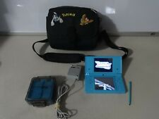 FULLY TESTED Original Nintendo DSi Blue Handheld System W Charger & Pokemon Case