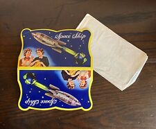 Vintage Darners Space Ship Sewing Needles Threader Complete Set Mint