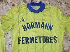 maillot ancien LE COQ SPORTIF HORMANN FERMETURES Années 70 N° 5 porté