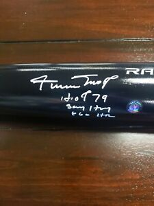 WILLIE MAYS SIGNED AUTOGRAPHED FULL SIZE BAT Mays Hologram Hof 79 660HR Say Hey