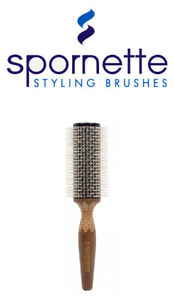 Spornette - ETCHED THERMAL CERAMIC ROUNDER Hair Brush  (ET) --  FREE SHIPPING
