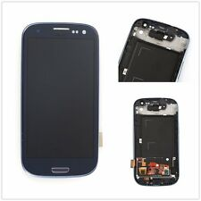 Blue For Samsung Galaxy S3 i9300 Full LCD Touch Screen Glass Digitizer + Frame