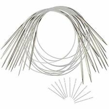 11 Pieces Stainless Steel Circular Knitting Needles Set Interchangeable