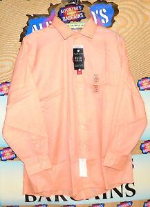 New Mens Van Heusen Long Sleeve Flex Collar Shirts $15.99 Free Shipping