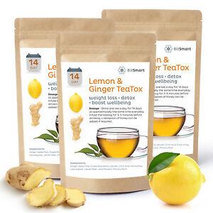 14 Day Detox Tea Weight Loss Tea Slimming Diet Teabags Lemon & Ginger Burn Fat