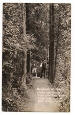 RPPC Hikers on the PIPE LINE TRAIL Pipeline  Mill Valley California Postcard CA