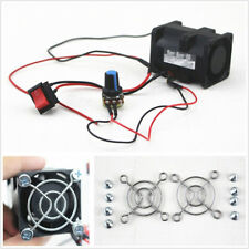 ACE40 DIY Car Truck Supercharger Boost Intake Fan+Switch Potentiometer Cover 12V