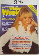 WOMENS WEEKLY 1980 JULY 30,OLIVIA NEWTON JOHN COVER & FEATURE,