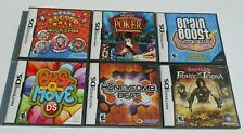Nintendo DS Game LOT 6 Super Monkey Ball Prince of Persia Bust-a-Move Poker NDS
