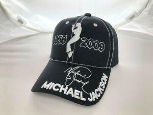 VTG DS 2009 MICHAEL JACKSON AUTOGRAPH KING OF POP DANCE STRAPBACK HAT BLACK CAP