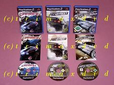 3xPS2 _ Need For Speed Most Wanted & Need For Speed Pro Street & Need F.S.Carbon
