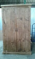 NEW SOLID WOOD RUSTIC CHUNKY WARDROBE FULL HANGING WITH DRAWERS MADE TO MEASURE